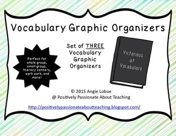 Vocabulary Graphic Organizers (Set of 3)