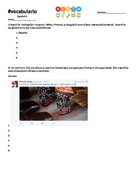 Vocabulary Hashtag assignment