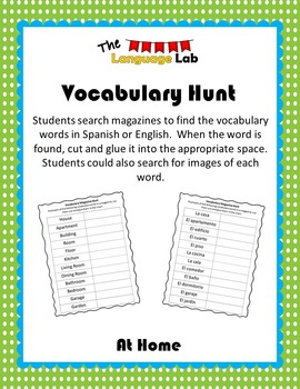 Vocabulary Hunt- At Home