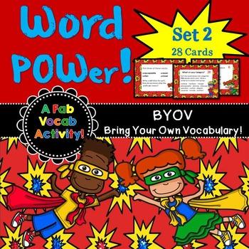 Vocabulary Activity Cards