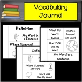 Any Subject Vocabulary Interactive Journal