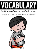 Vocabulary Interactive Notebook