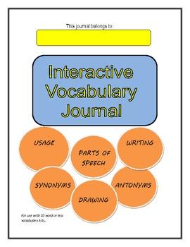 Vocabulary Journal-Interactive Common Core (Grades 3-8) La