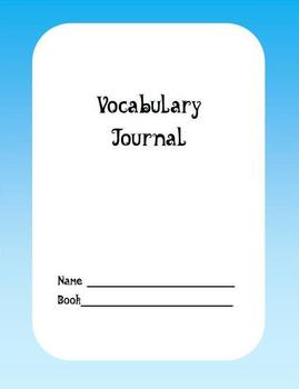 Vocabulary Journal - Use with any Book/Literature Unit - A