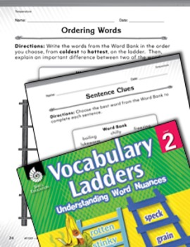 Vocabulary Ladder for Temperature (eLesson)