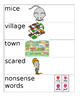 Vocabulary Frog Street Theme 1 Weeks 1-4