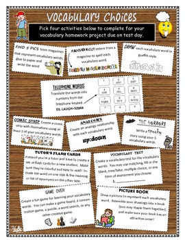 Vocabulary Lessons Activities