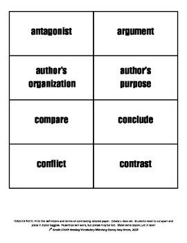 Vocabulary Matching Activity
