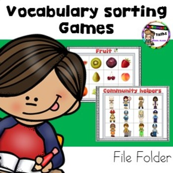 Vocabulary and  Matching games for students with Autism