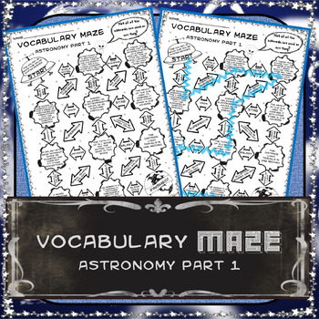 Vocabulary Maze Earth and Space 8th Grade Science