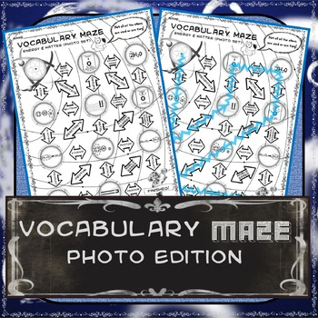 Vocabulary Maze Energy and Matter Photo Edition