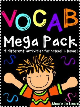 Vocabulary Mega Pack! Games, Response Sheets, and a Home-S