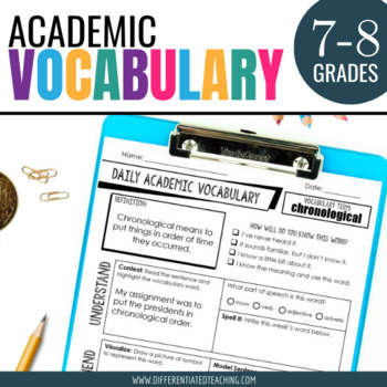 Academic Vocabulary for Middle School: Yearlong Bundle for