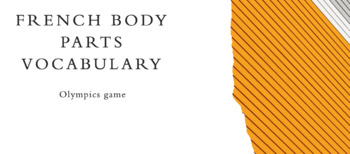 Vocabulary Olympics game with Body Parts