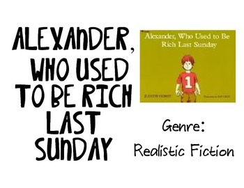 Vocabulary Picture Cards for Alexander, Who Used to be Ric