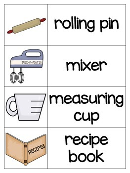 Vocabulary Picture Cards for Dramatic Play