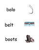 Vocabulary Picture Support for Reading Level A Books