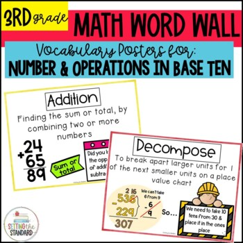 Vocabulary Posters for Addition, Subtraction, & Rounding C