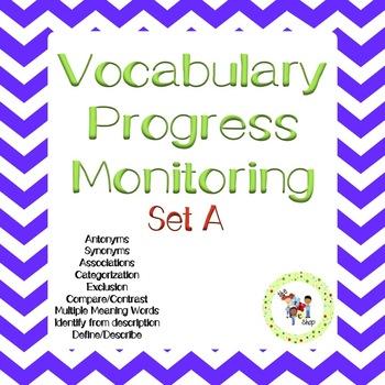 Vocabulary Progress Monitoring