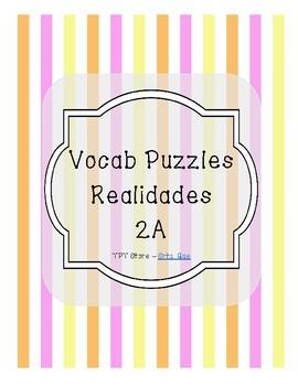 Vocabulary Puzzle (Realidades I - 2A)