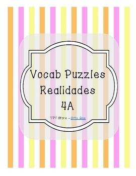 Vocabulary Puzzle (Realidades I - 4A)