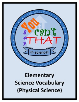 "Vocabulary Review Game - ""You Can't Say That!"" - Elementar"