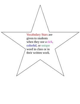 Vocabulary Reward System