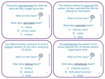 Vocabulary Rocks: Context Clues!