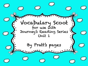 Journey's Second Grade Unit 1 Vocabulary Scoot