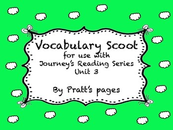 Journey's Second Grade Unit 3 vocabulary scoot