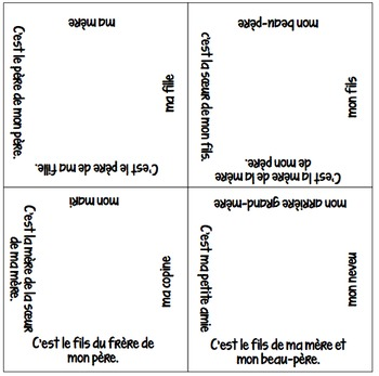 NEW & IMPROVED! Vocabulary Squares: Family Relationships &