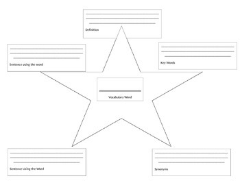 Vocabulary Star Sheet