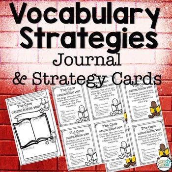 Vocabulary Strategies Strategy Cards & Vocabulary Journal