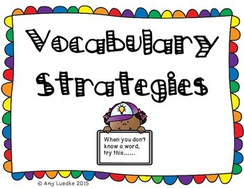 Vocabulary Strategy Anchor Charts