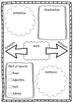 Vocabulary Study Organizer