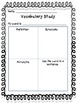 Vocabulary Study and Practice Worksheets Grades 1-5