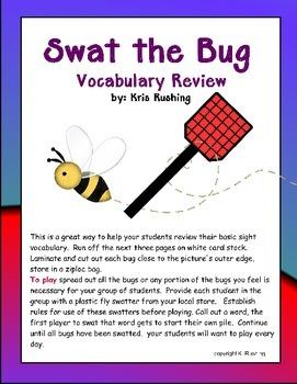 Vocabulary: Swat a Bug