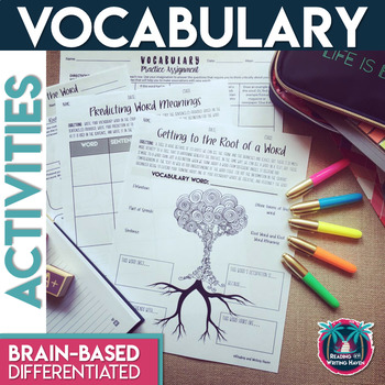 Vocabulary Task Cards for Any Word List: Unique, Engaging,