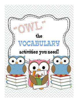 Vocabulary Tic-Tac-Toe Activities