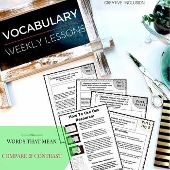 Vocabulary To The Core- Common Core Tier 2 Words, COMPARE