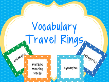 Vocabulary Travel Rings
