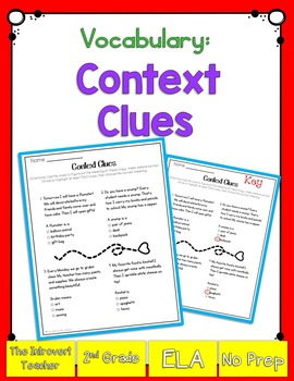 Vocabulary: Using Context Clues
