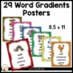 Vocabulary:  Word Gradient Posters