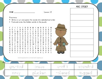 Word Search with ABC Order - Tops and Bottoms - Journeys Aligned