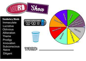 Vocabulary Word Show Game