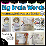 Vocabulary Word Work: Big Brain Words Set 1