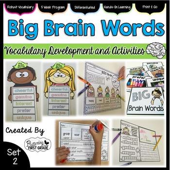 Vocabulary Word Work: Big Brain Words Set 2