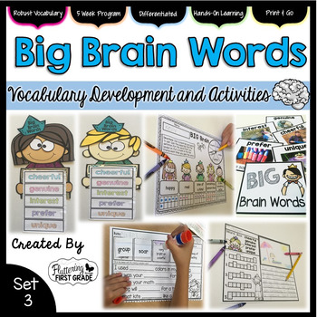 Vocabulary Word Work: Big Brain Words Set 3