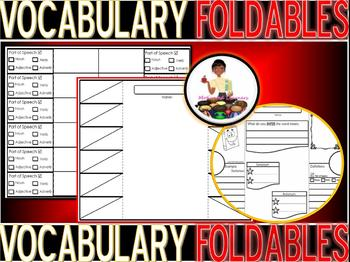 Vocabulary FOLDABLE Interactive Notebook (Graphic Organizer) (3)