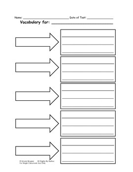 Vocabulary Worksheet (Blank)